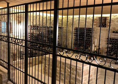 Habillage cave à vin