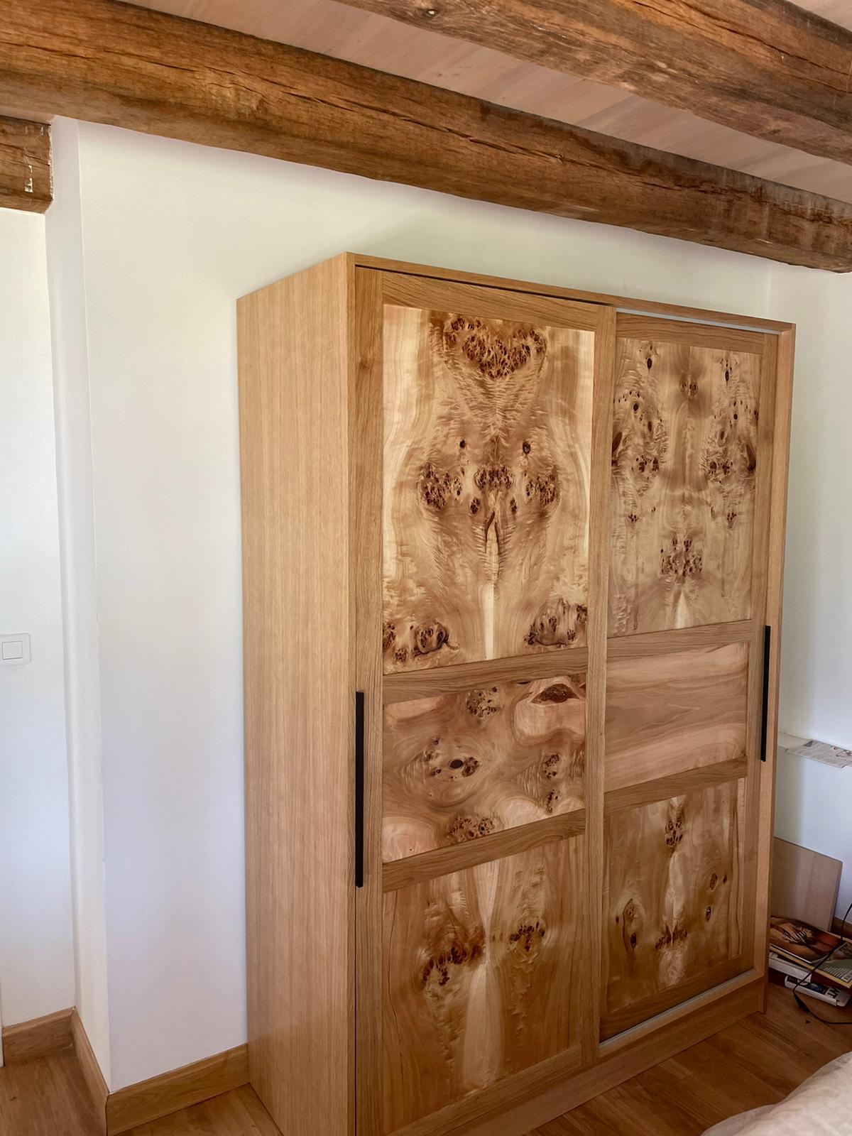 meuble façade peuplier chêne