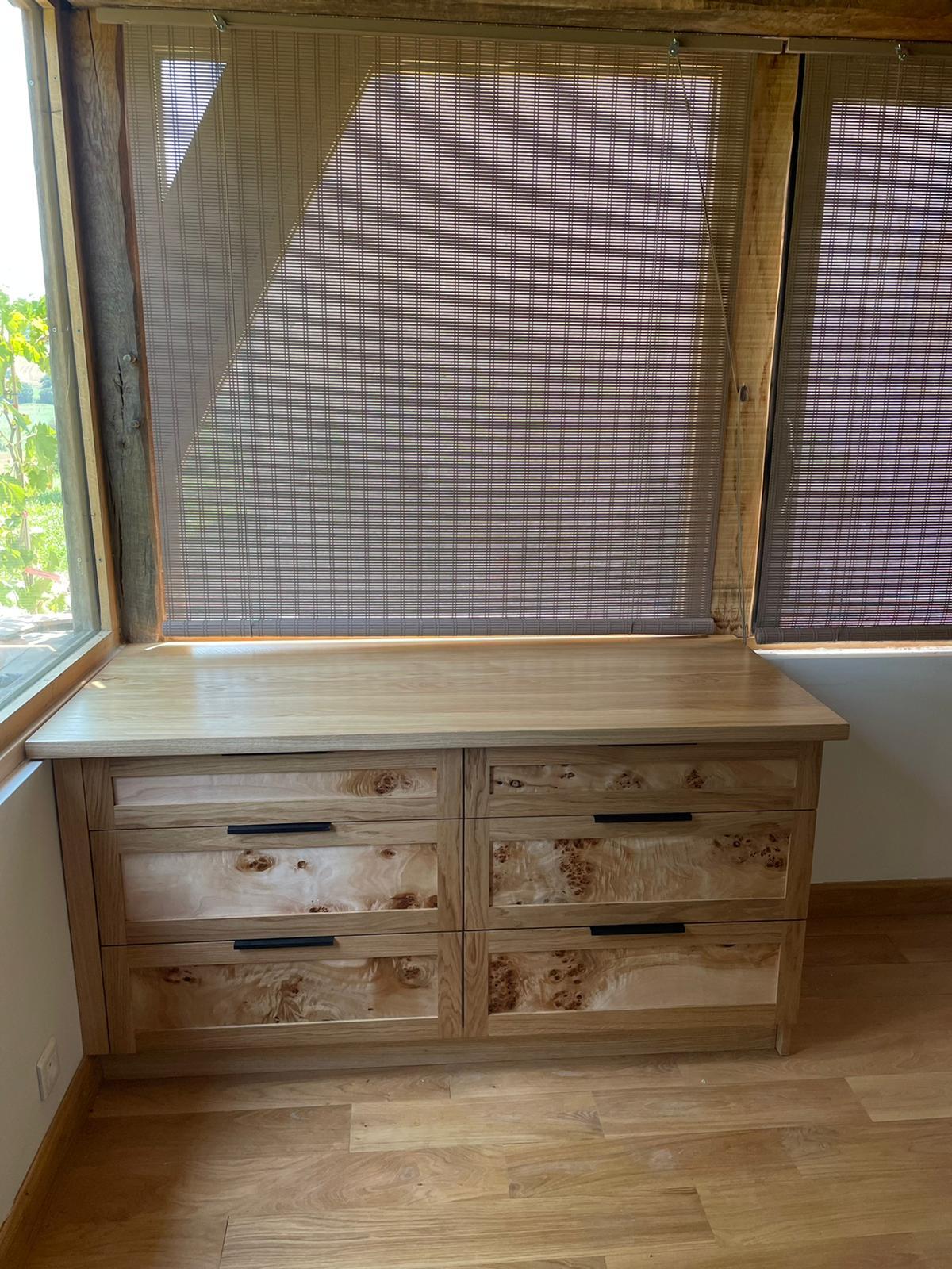meuble tiroirs peupliers chêne